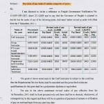 PAY REVISION FOR CRAFT/GROUP/WORKSHOP INSTR../PTI/LAB. TECH. No. 5/10/09-5FP/1164 dated 21.12.2011