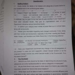 QUESTIONAIRE BY 6TH PAY COMMISSION TO ADMIN. SECTT.